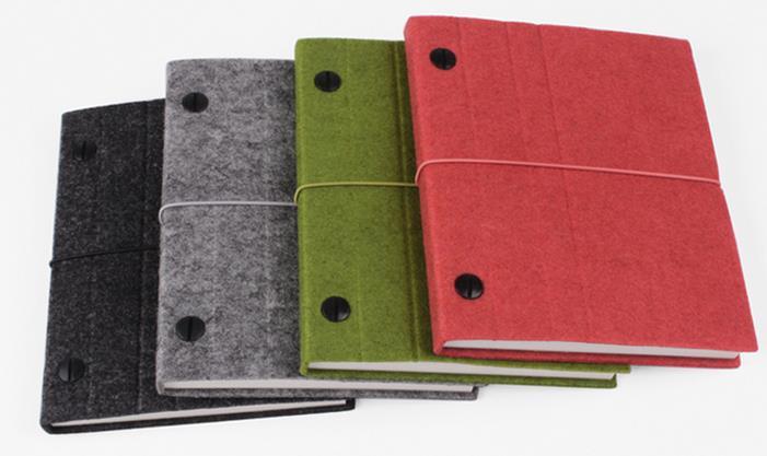 羊毛毡 绑带笔记本