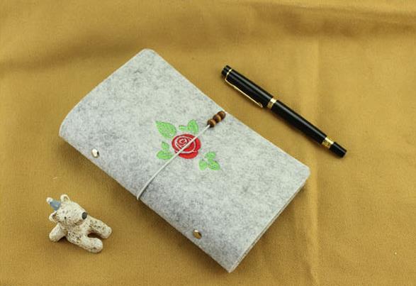 韩国毛毡手工本子活页创意笔记本日记本记事本