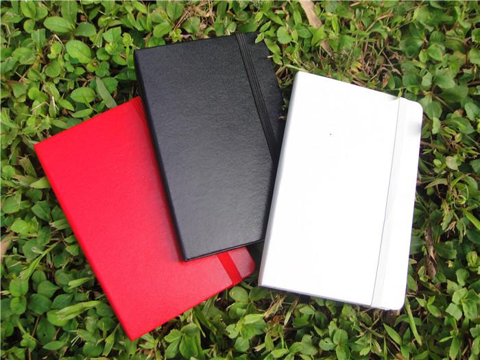 仿MOLESKINE型 经典系列 黑/红/白硬面笔记本 记事本 口袋型