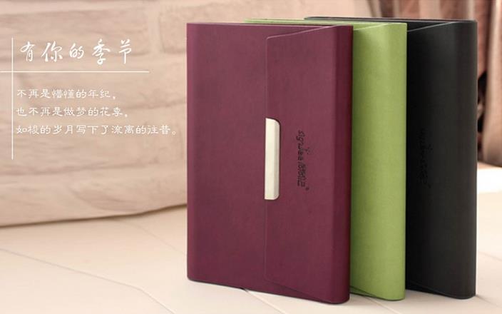 定制 记事本 A5 A6 韩国 商务 活页本 笔记本 油边日记本