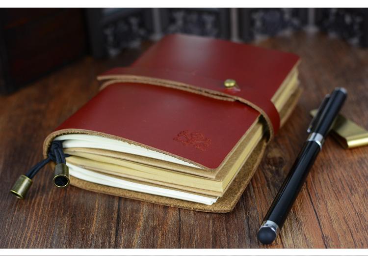 真皮复古手工日记本 TN旅行者日记本笔记本牛皮活页记事本