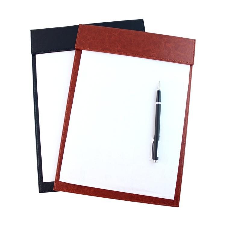文件夹定做_A4商务文件夹办公创意皮质高档会议菜单会议垫写字板夹厂家定做 ...