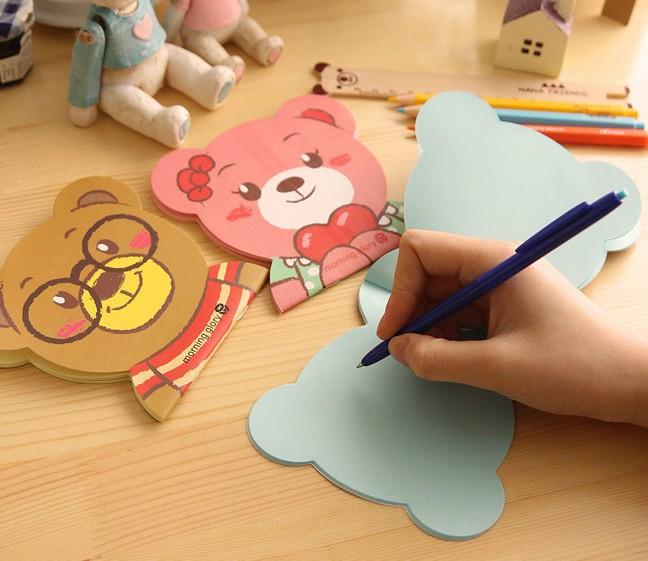 可爱卡通脸谱记事本 彩色纸内页日记本便签本子