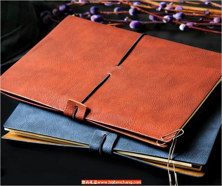创意款旅行者记事本绑带日记本子